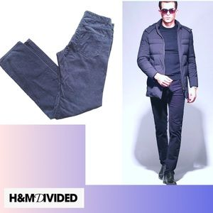 H&M Blue Velvet Pants